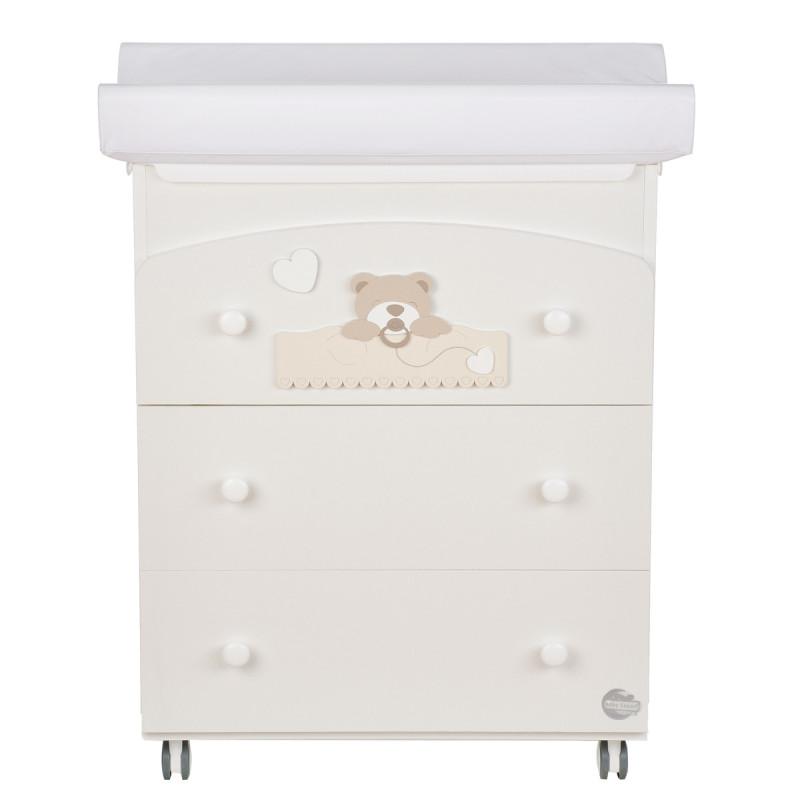 Συρταριέρα με μπανιέρα και αλλαξιέρα, λευκή  97603