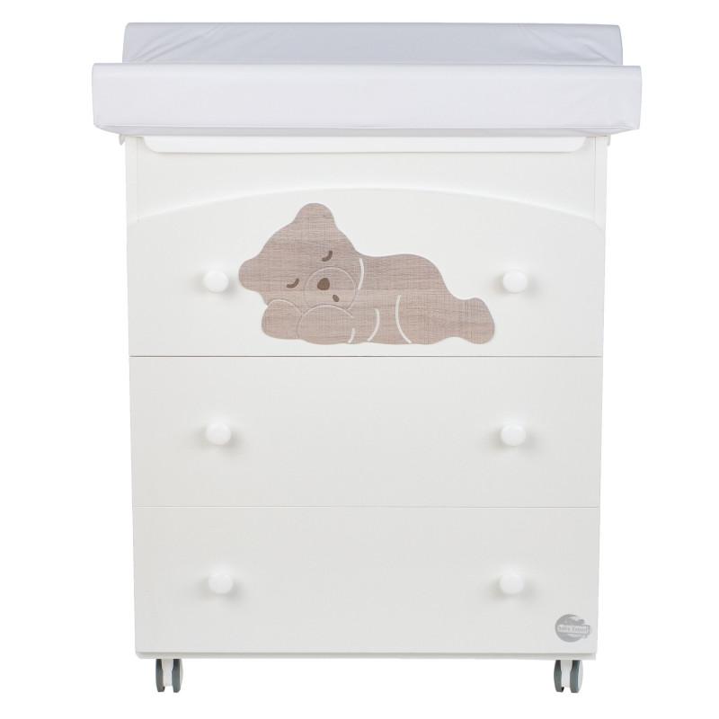 Συρταριέρα με μπανιέρα και αλλαξιέρα - Φυσικό ξύλο οξιάς  97611