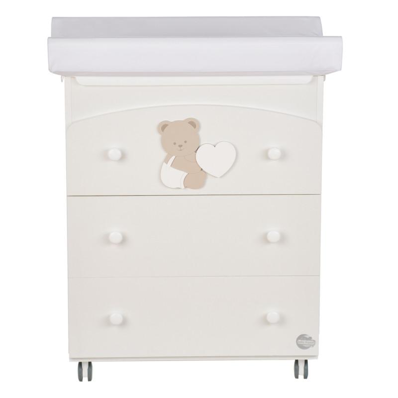 Συρταριέρα με μπανιέρα και κουβέρτα - Brown Bunny  97619