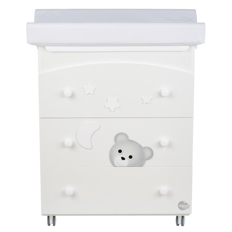 Συρταριέρα Με μπανιέρα και αλλαξιέρα - με αρκουδάκι, φεγγάρι και αστέρια  97627
