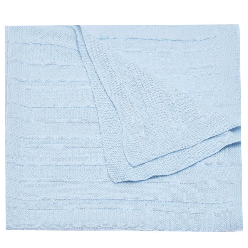 Πλεκτή κουβέρτα μωρού, μπλε χρώμα  97737